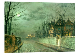 Acrylic print  Old English House, Moonlight after Rain - John Atkinson Grimshaw