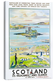Canvas print  Scotland, it's Highlands and Islands - Scottish School