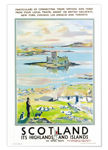 Premium poster Scotland, it's Highlands and Islands