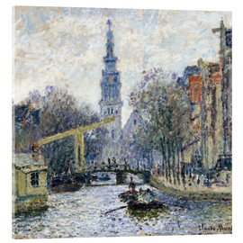 Acrylic glass  Canal a Amsterdam - Claude Monet