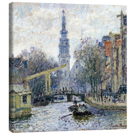Canvas print  Canal a Amsterdam - Claude Monet