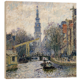Wood  Canal a Amsterdam - Claude Monet