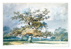 Premium poster A Landscape with an Old Oak Tree