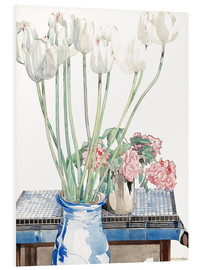 Foam board print  White tulips - Charles Rennie Mackintosh