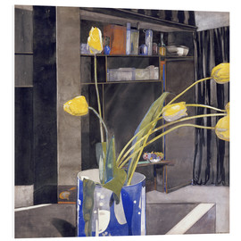 Foam board print  Yellow Tulips - Charles Rennie Mackintosh