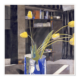 Premium poster Yellow Tulips
