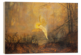 Wood print  Midsummer Night, or 'Iris', 1876 - John Atkinson Grimshaw