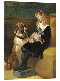 Acrylic print  Her only Playmates, 1870 - Hardy Heywood