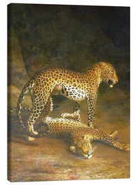 Canvas print  Two Leopards lying in the Exeter Exchange - Jacques Laurent Agasse