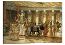 Canvas print  The Procession of the Holy Bull in Apis, 1879 - Frederick Arthur Bridgman