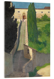 Acrylic print  The Steps of the Convent of San Marco, Perugia, 1913 - Felix Edouard Vallotton