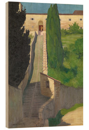 Wood  The Steps of the Convent of San Marco, Perugia, 1913 - Felix Edouard Vallotton