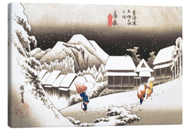 Canvas  Night Snow, Kambara - Utagawa Hiroshige