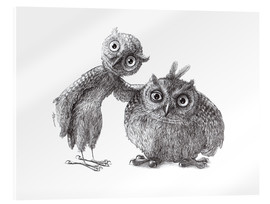 Acrylic print  Two Owls - Stan & Oliver - Stefan Kahlhammer