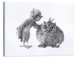 Canvas print  Two Owls - Stan & Oliver - Stefan Kahlhammer