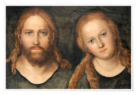Premium poster  Christ and Mary Magdalene - Lucas Cranach d.Ä.