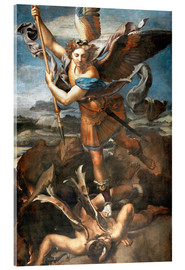 Acrylic glass  St.Michael kills the demon - Raffael