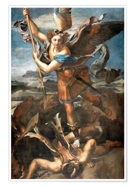 Premium poster  St.Michael kills the demon - Raffael