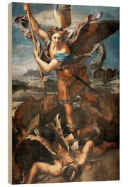 Wood print  St.Michael kills the demon - Raffael