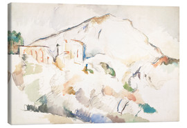 Canvas print  The Château Noir and Sainte-Victoire mountains - Paul Cézanne