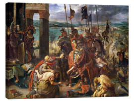 Canvas  The conquest of Constantinople by the crusaders - Eugene Delacroix