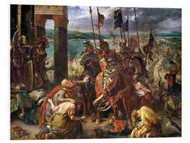 Foam board print  The conquest of Constantinople by the crusaders - Eugene Delacroix