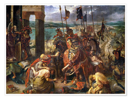 Premium poster  The conquest of Constantinople by the crusaders - Eugene Delacroix