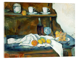 Acrylic glass  Le buffet - Paul Cézanne