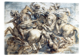Acrylic glass  Battle of Anghiari, sketch - Peter Paul Rubens