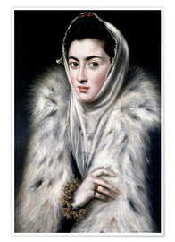 Premium poster The Lady with the fur