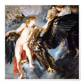 Premium poster  Abduction of Ganymede - Peter Paul Rubens