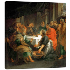 Canvas  The Washing of the Feet - Peter Paul Rubens