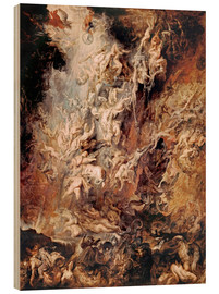 Wood print  The Descent into Hell of the Damned - Peter Paul Rubens