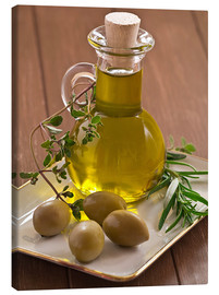 Canvas print  Olive oil and olives - Edith Albuschat