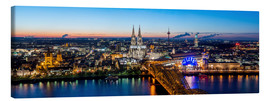Canvas print  Birdseye view of Cologne - euregiophoto