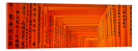 Acrylic print  Red gates of Fushimi Inari Taisha Shrine in Kyoto Japan - Jan Christopher Becke