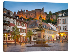 Canvas print  Heidelberg Kornmarkt - Jan Christopher Becke