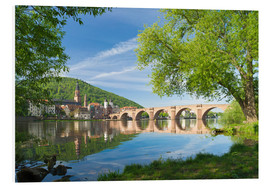Foam board print  Heidelberg in spring - Jan Christopher Becke