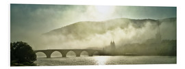 Foam board print  Heidelberg in fog with old bridge - Jan Christopher Becke