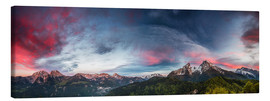 Canvas print  Sunset over the Berchtesgaden - Moqui, Daniela Beyer