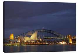 Canvas  Sydney Opera House and Harbour Bridge - David Wall