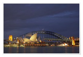 Premium poster Sydney Opera and Harbor Bridge