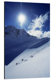 Aluminium print  Heli-skiing on the Aoraki - James Kay