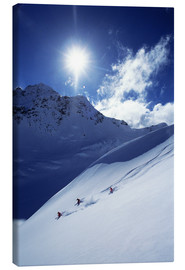 Canvas print  Heliskiing in Mount Cook National Park - James Kay