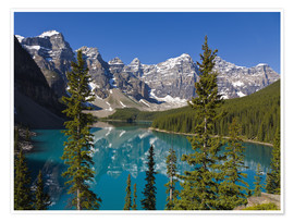 Premium poster  Lake in front of the Canadian Rockies - Paul Thompson
