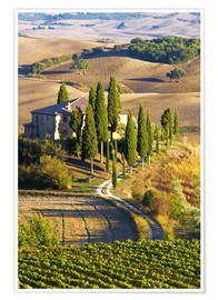 Premium poster  Belvedere House in San Quirico - Terry Eggers