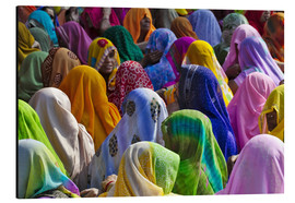 Aluminium print  Women in colorful saris - Keren Su