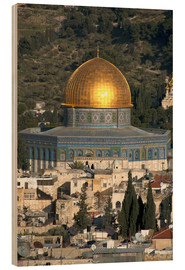 Wood print  Jerusalem and the Dome - David Noyes