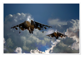 Premium poster  Harrier Approach - airpowerart
