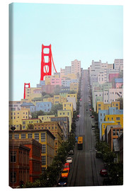 Canvas print  San Francisco and Golden Gate Bridgee - John Morris